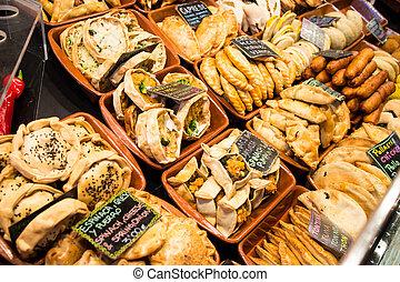 La Boqueria - Mexican food stall in La Boqueria, Barcelona