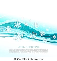 Merry Christmas greeting card with snowflakes - Merry...
