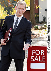 Handsome real estate broker