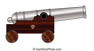 Cannon - A depiction of an old ship of the lines cannon gun
