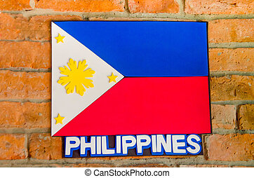 Sighburi,Thailand - OCT 19: Symbol Philippines National Flag...