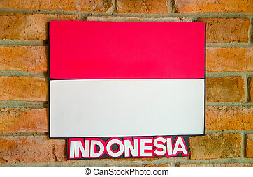 Sighburi,Thailand - OCT 19: Symbol Indonesia National Flag...
