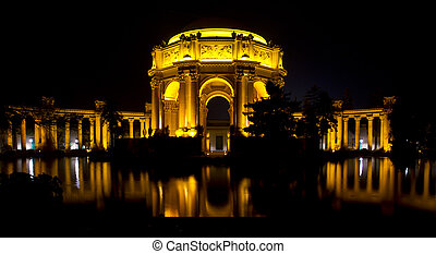 San Francisco Palace of the Fine Arts at Night