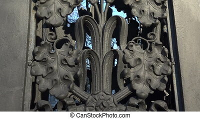 Decorative cast-iron fence.