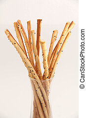 bread Stick - Bread stick in glass ready to serve