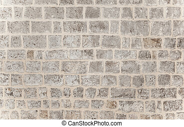 Gray brick background, grunge style brickwork wall, stylish...