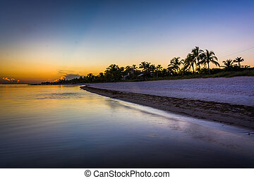 Sunset at Smathers Beach, Key West, Florida