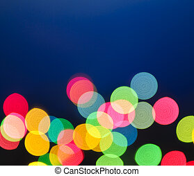 Blurred Christmas lights - Out of focus multicolored...