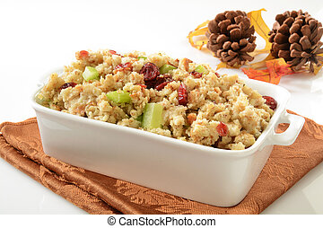 Cranberry stuffing - Cranberry celery stuffing with turkey...