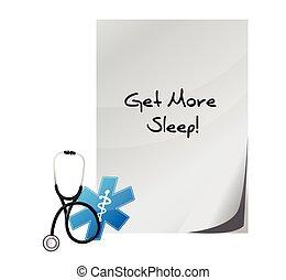 get more sleep medical illustration design over a white...