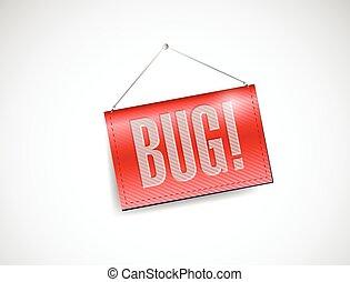 bug banner illustration design