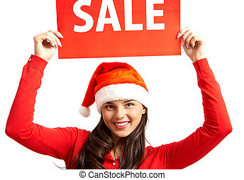 Sale before xmas - Pretty female in Santa cap inviting you...