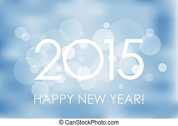 Happy New Year 2015 winter background