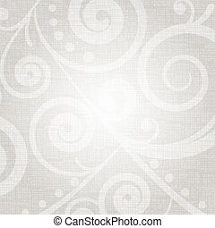 Vector silver texture with floral pattern
