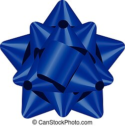 Vector illustration of blue bow