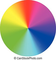 Vector illustration of color wheel