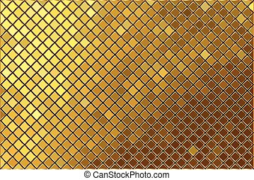 Vector gold mosaic background