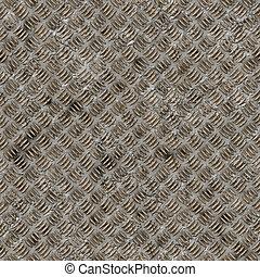 Seamless diamond steel plate texture.