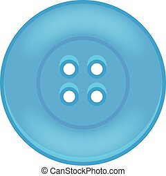 Vector illustration of blue button
