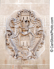 Coat of arms of Herrenberg - Detail shot of the coat of arms...