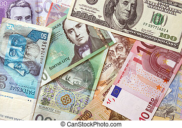 Background of european currencies - Background of different...