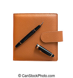 Organizer filled with fountain pen