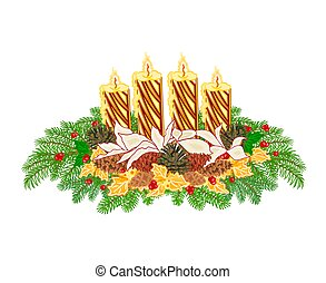 Advent wreath with pine cones - Christmas decoration Advent...