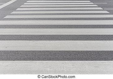 Zebra traffic walk way on road in city