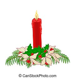 Christmas red candle