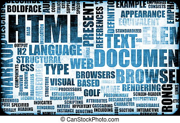 HTML - Blue HTML Script Code as an Background