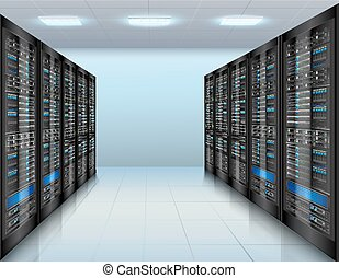 Data center background - Data center concept with network...
