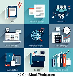 Business concepts set - Business concept set with idea...