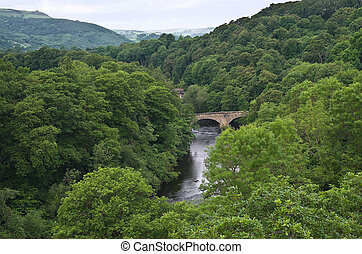 River Dee Wales - A view of the River Dee, Wales, from the...