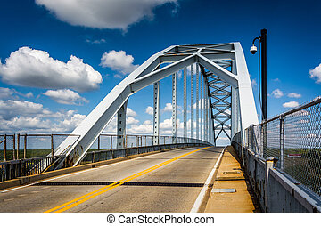 Bridge over the Chesapeake and Delaware Canal, in Chesapeake...