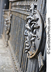 Bridge decoration. Decoration detail of Panteleymonovsky...