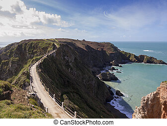 La Coupee on Sark channel islands