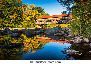Albany Covered Bridge, along the Kancamagus Highway in White Mou