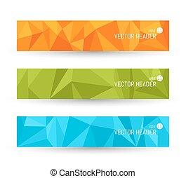 Vector banner backgrounds. Website