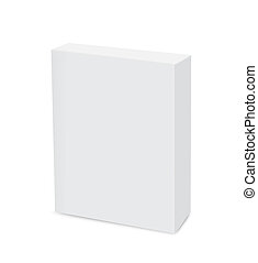 Blank Box Slim - White box is blank a logo