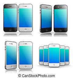 Smartphones Concepts - Set of 3D Illustrations.