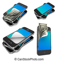 Mobile Payments - Set of 3D Illustrations - Mobile Payments-...