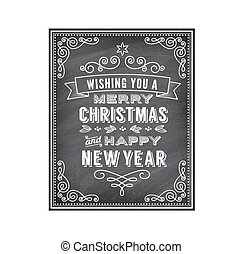 Vector Christmas Chalkboard Greetin - Vector Christmas...