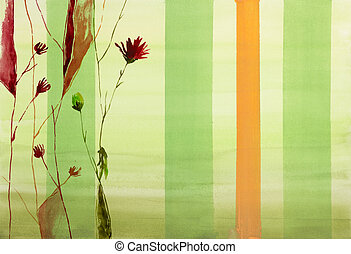 flowers on colorful background