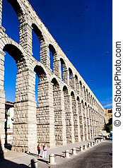 Roman aqueduct, Segovia, Castile and Leon, Spain
