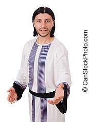 árabe, blanco, concepto, aislado, hombre
