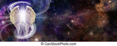Angel Spirit in Deep Space - colorful deep space background...
