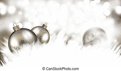 Merry Christmas and Happy New Year - An abstract Christmas...