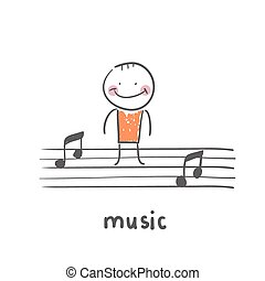 music. Fun cartoon style illustration. The situation of...