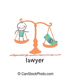 lawyer. Fun cartoon style illustration. The situation of...