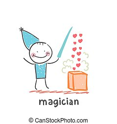 magician. Fun cartoon style illustration. The situation of...